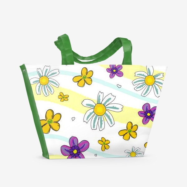 Пляжная сумка «Полевые цветы»