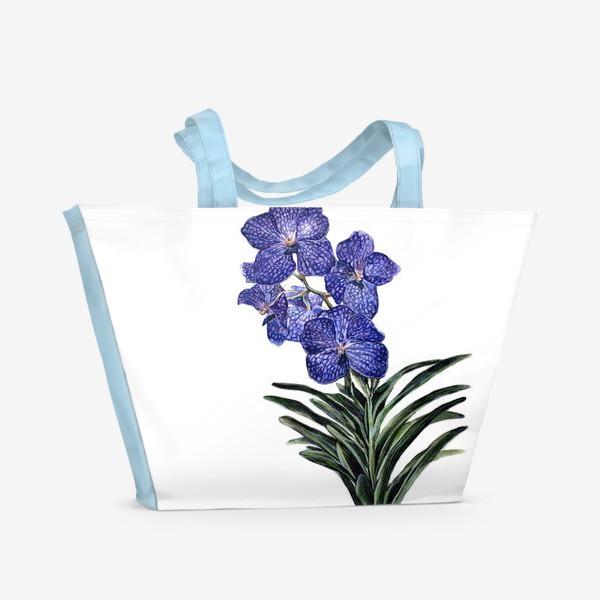 Пляжная сумка «Орхидея Ванда»