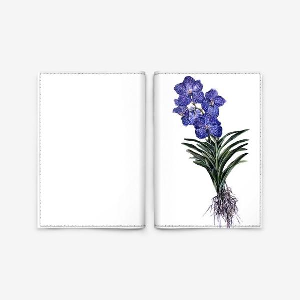 Обложка для паспорта «Орхидея Ванда»