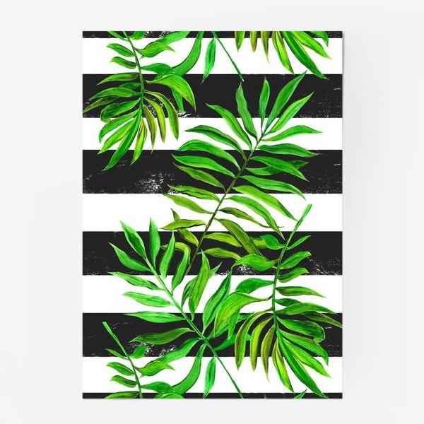 Постер «тропики. паттерн с листьями»