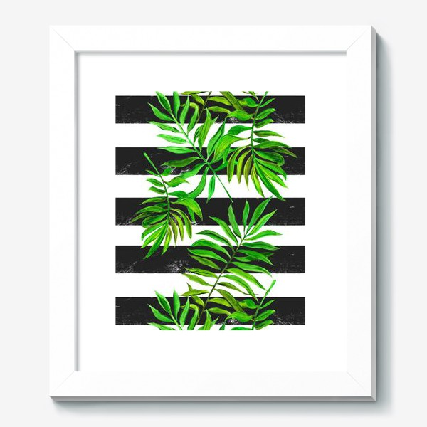 Картина «тропики. паттерн с листьями»