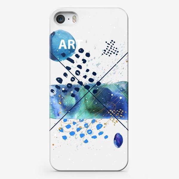 Чехол iPhone «Арт коллаж Морская акварельная абстракция»