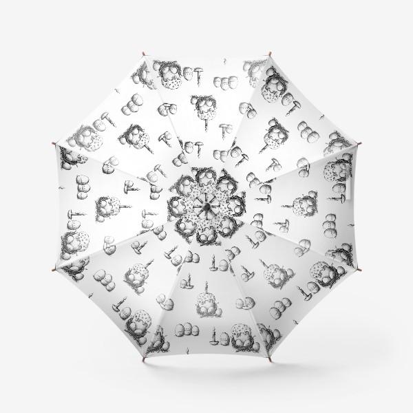 Зонт «Пасхальный паттерн с куличами»