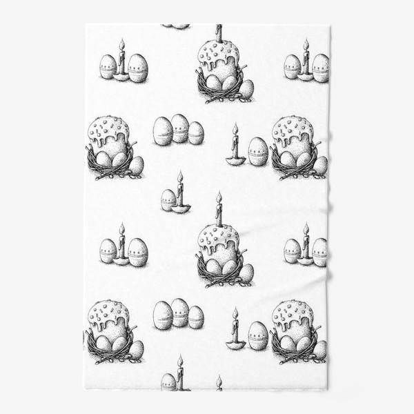 Полотенце «Пасхальный паттерн с куличами»