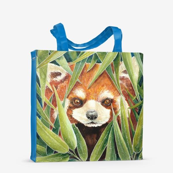 Сумка-шоппер «Красная Панда в листьях бамбука»