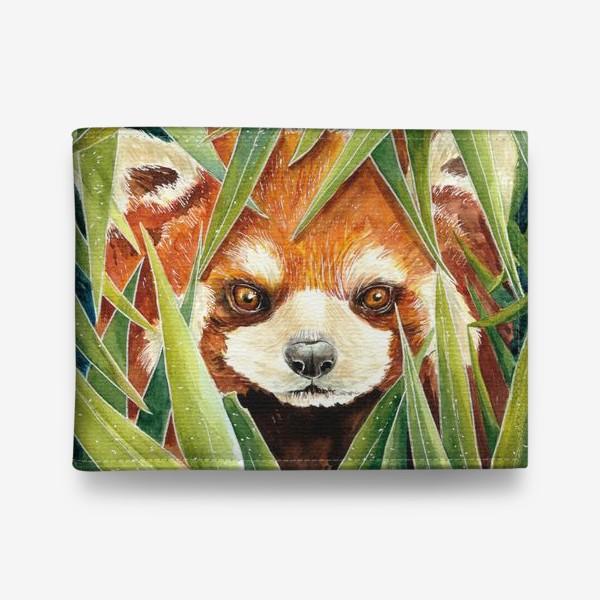 Кошелек «Красная Панда в листьях бамбука»