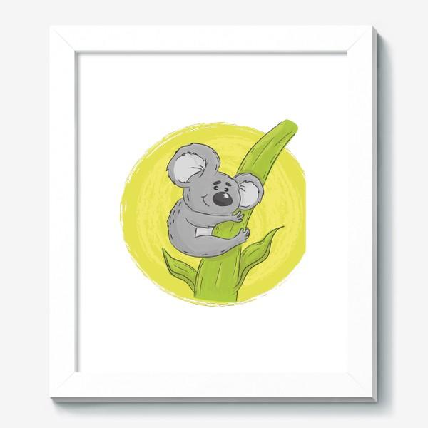 Картина «Коала обнимает эвкалипт»
