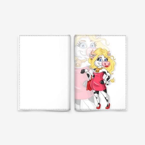 Обложка для паспорта «Модная корова»