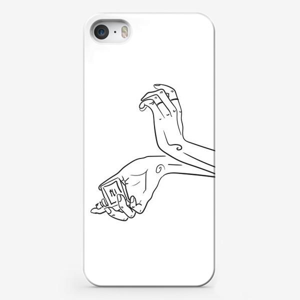 Чехол iPhone «Женские руки. Скетч»