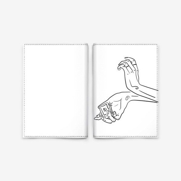 Обложка для паспорта «Женские руки. Скетч»