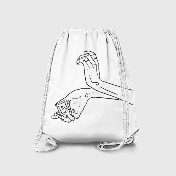 Рюкзак «Женские руки. Скетч»