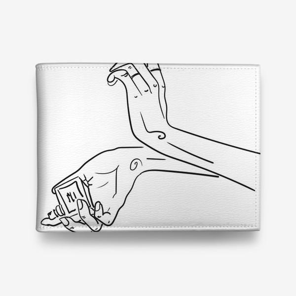 Кошелек «Женские руки. Скетч»