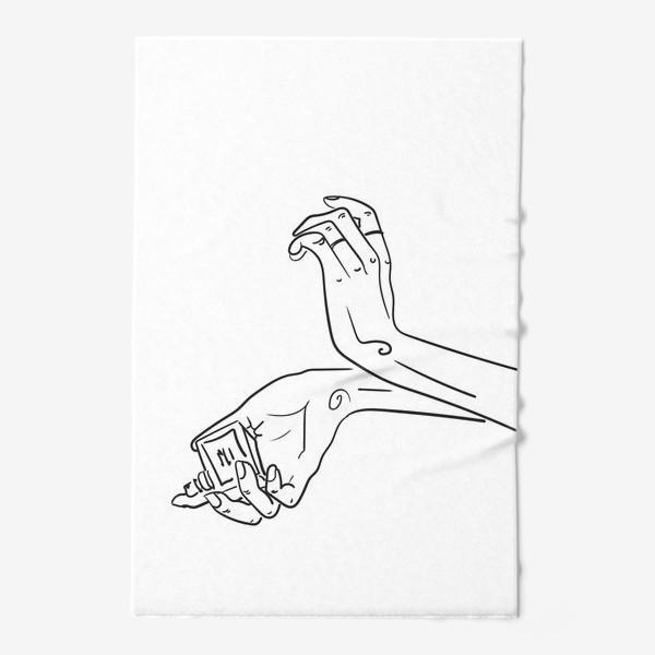 Полотенце «Женские руки. Скетч»
