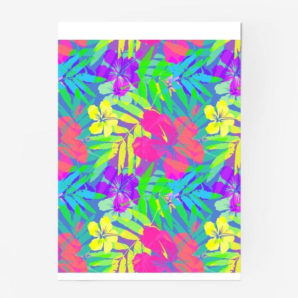 Постер «Тропические цветы»