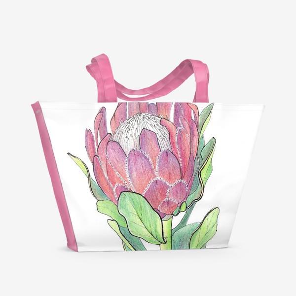 Пляжная сумка «Цветок Протея»