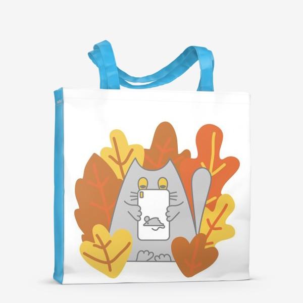 Сумка-шоппер «Кот блоггер»