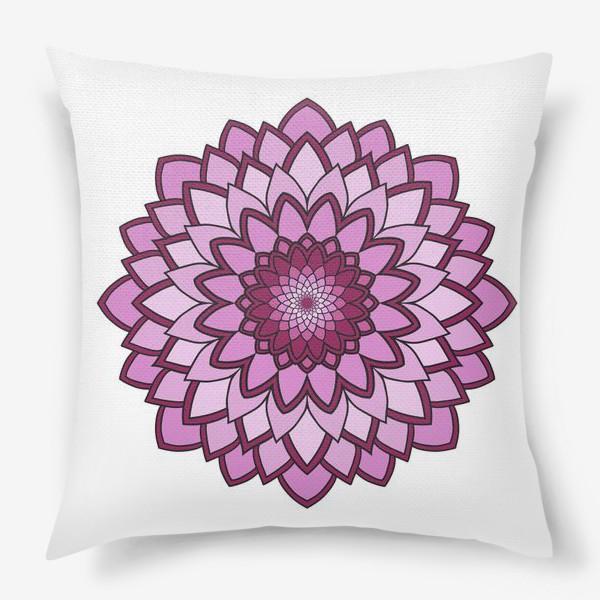 Подушка «Мандала розовая астра»