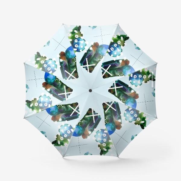 Зонт «Коллаж с акварельными абстрактными фэлементами»