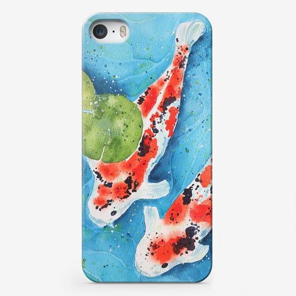 Чехол iPhone «Японские карпы Кои. Подарок рыбам.»