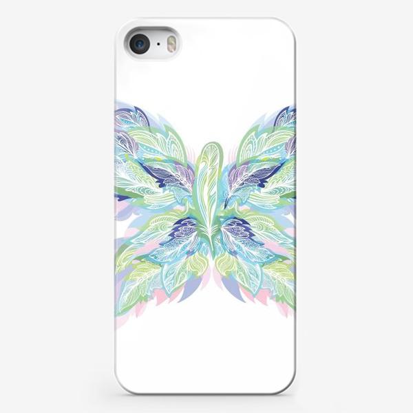 Чехол iPhone «Бабочка из перьев»