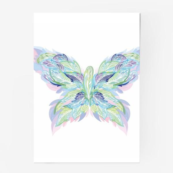 Постер «Бабочка из перьев»