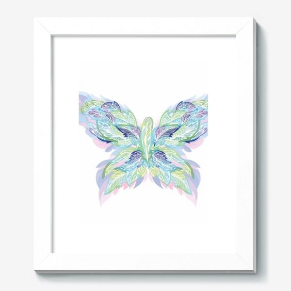 Картина «Бабочка из перьев»