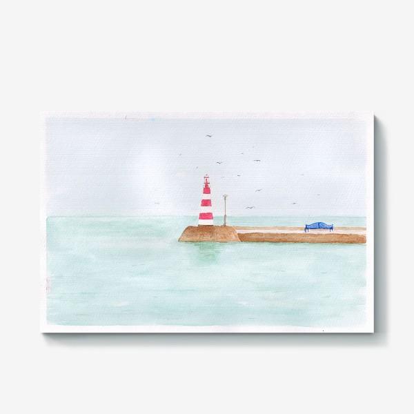 Холст «Маяк в тихой гавани»