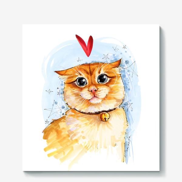 Холст «Рыжий кот удивлен»