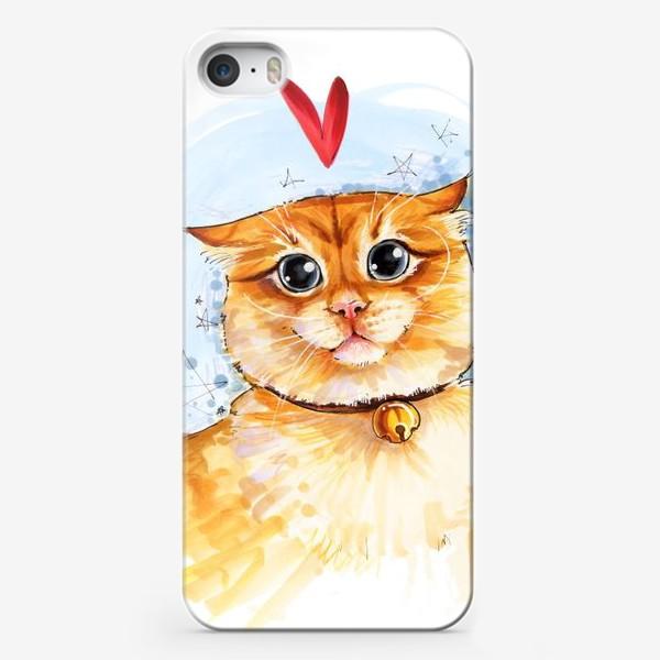 Чехол iPhone «Рыжий кот удивлен»