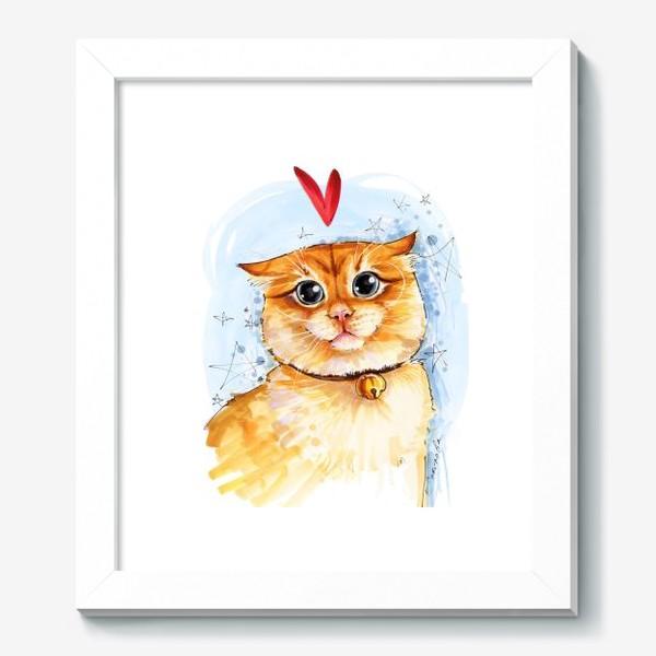 Картина «Рыжий кот удивлен»
