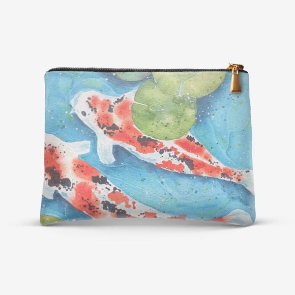 Косметичка «Японские карпы Кои. Подарок рыбам.»