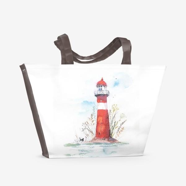 Пляжная сумка «Маяк весенний»
