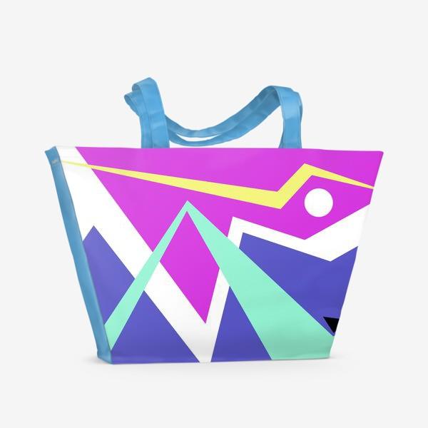 Пляжная сумка «Абстракция Чайки над морем»