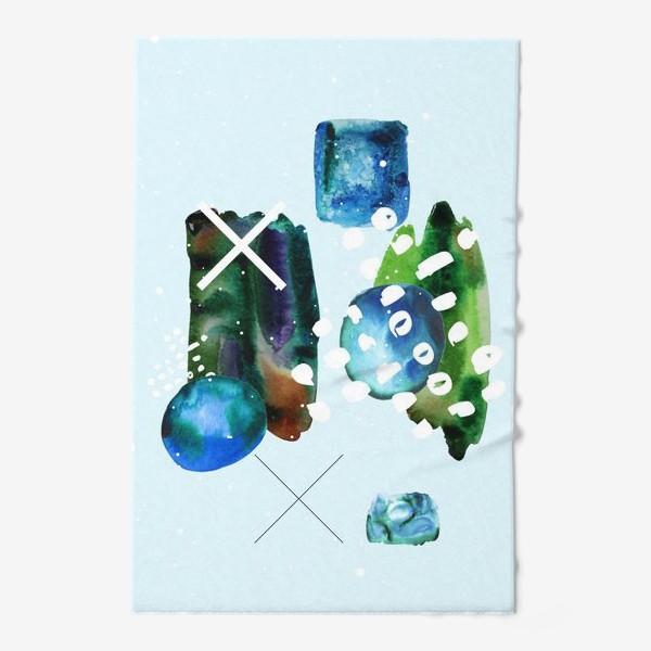 Полотенце «Коллаж с акварельными абстрактными фэлементами»