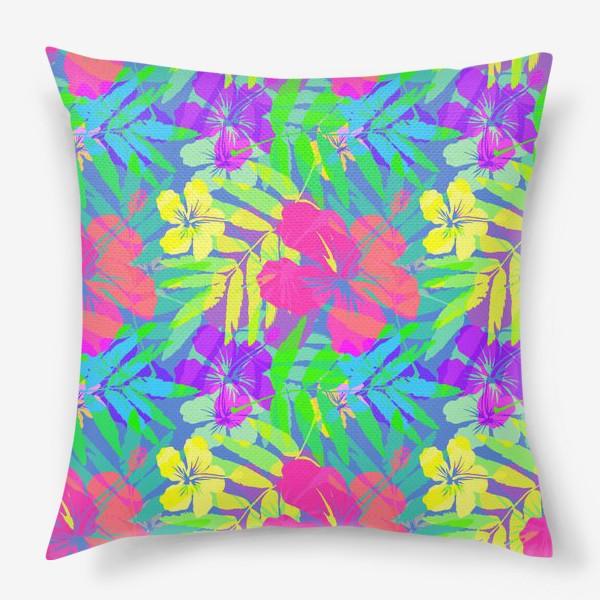 Подушка «Тропические цветы»