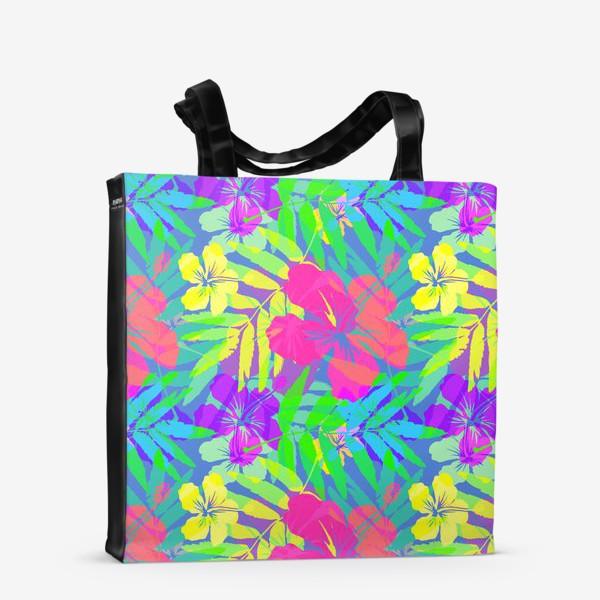 Сумка-шоппер «Тропические цветы»