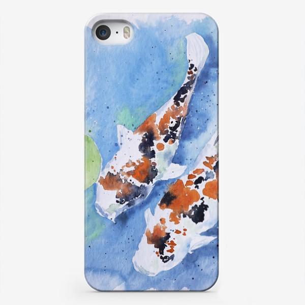 Чехол iPhone «Рыбки карпы в озере»