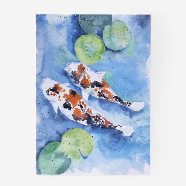 Постер «Рыбки карпы в озере»