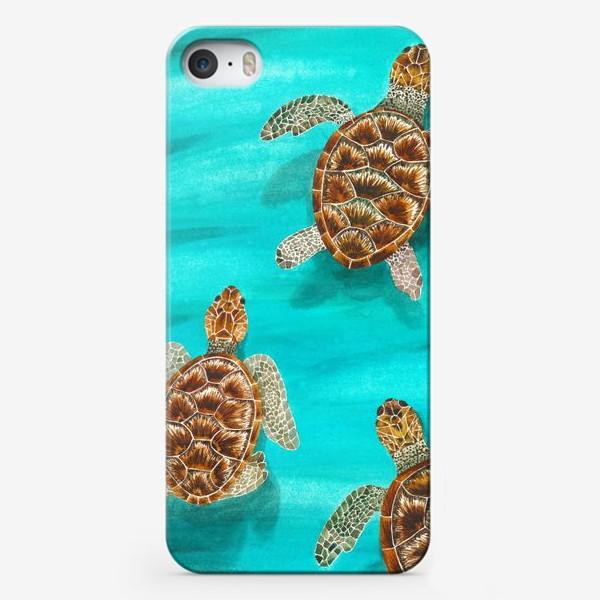 Чехол iPhone «Плывущие морские черепахи»