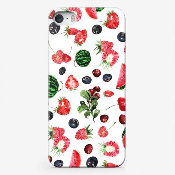 Чехол iPhone «Ягодный летний микс»