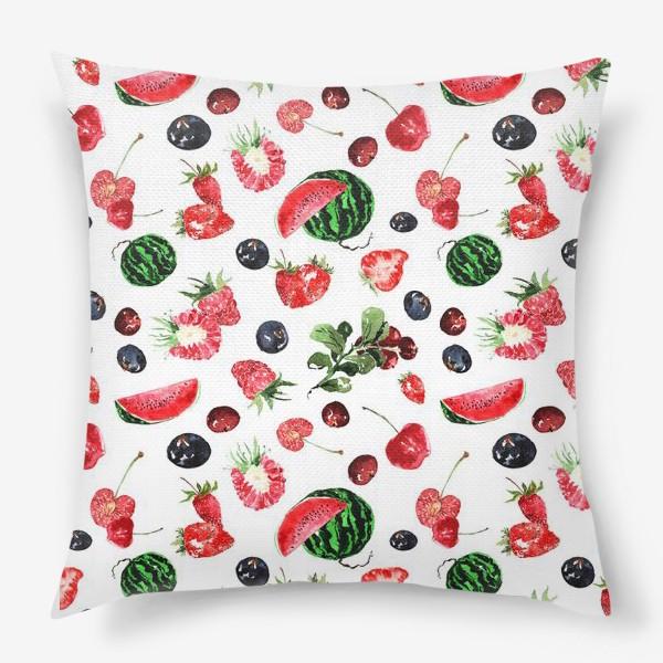 Подушка «Ягодный летний микс»