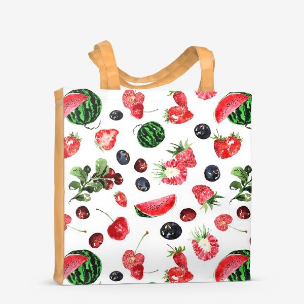 Сумка-шоппер «Ягодный летний микс»