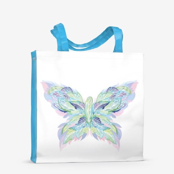 Сумка-шоппер «Бабочка из перьев»