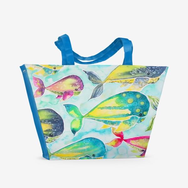 Пляжная сумка «Киты»