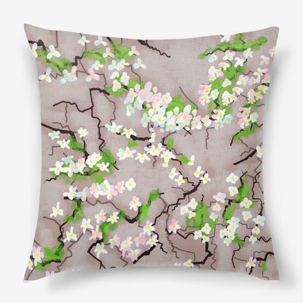Подушка «Цветы на земле»