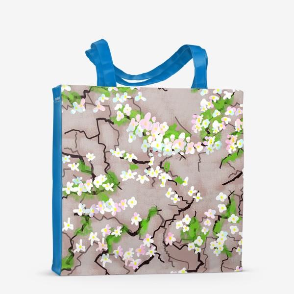 Сумка-шоппер «Цветы на земле»