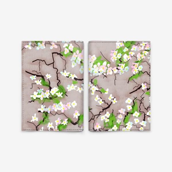 Обложка для паспорта «Цветы на земле»