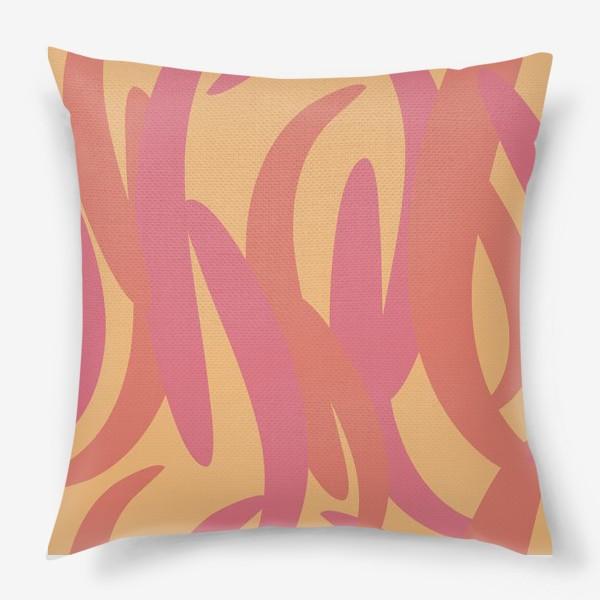 Подушка «яркий тропический абстрактный фон»
