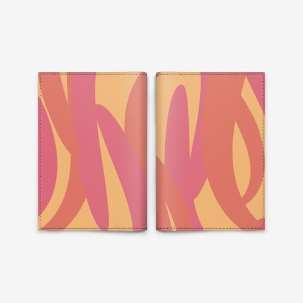 Обложка для паспорта «яркий тропический абстрактный фон»