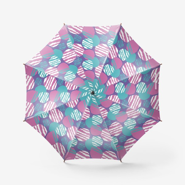 Зонт «яркий паттерн круги в полоску»